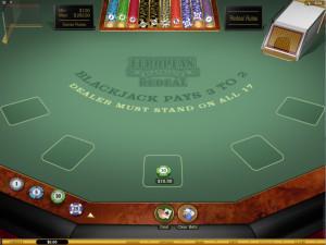 european redeal blackjack