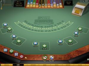 perfect pairs blackjack table