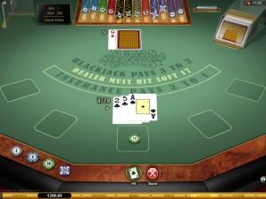 vegas single deck blackjack