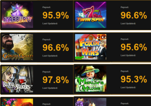 Online casino payout percentages relance poker no limit