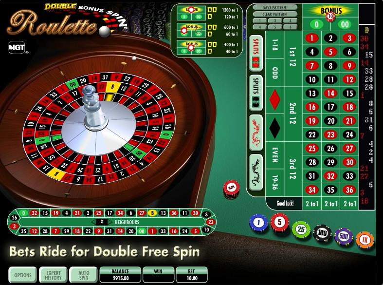 double bonus spin roulette